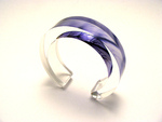 10x20mm Bangle Cartwheel Flower Lilac