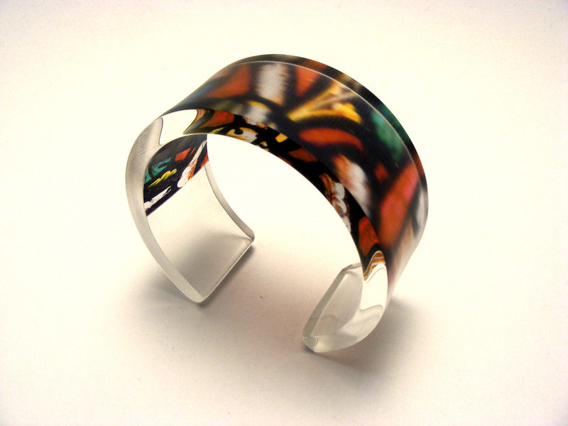 6x30mm Bangle Stained Glass 1
