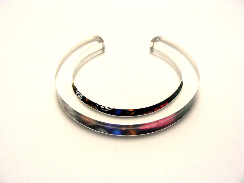 10x10mm Bangle Stained Glass 1