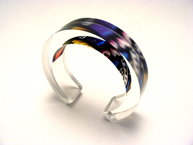 10x20mm Bangle Stained Glass 1