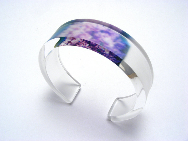 Alliums 6x20mm Bangle Lilac
