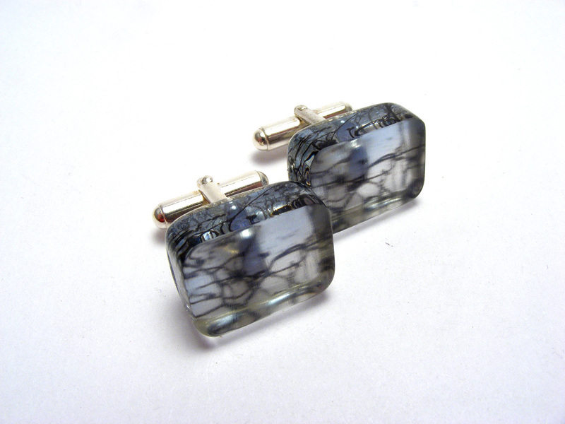 Look to the Sky 6mm Cufflinks Blue Spring