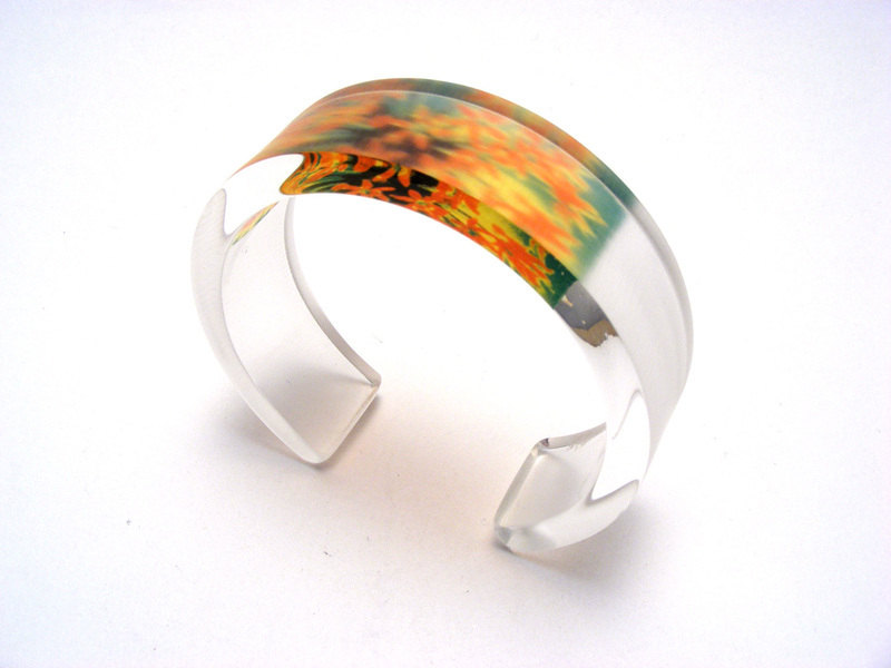 Alliums 6x20 bangle green-orange