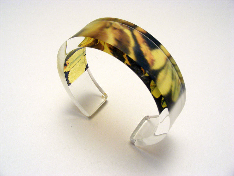 6x20 blk lime leaves bangle