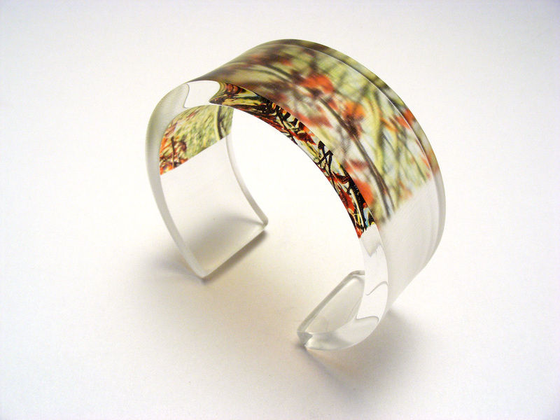 6x30 red green leaves bangle