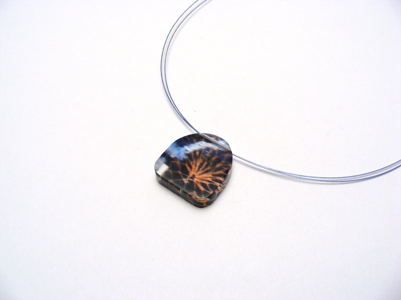 lobster net pendant