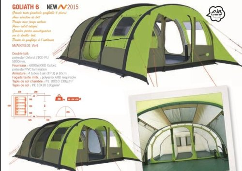 Trigano Goliath 6 Inflatable Airc& Tent  sc 1 st  Awnings and Accessories Direct & Goliath 6 Inflatable Aircamp Tent