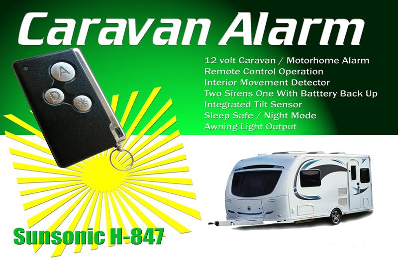 HAEGIL CARAVAN & MOTORHOME 12V ALARM C/W REMOTE