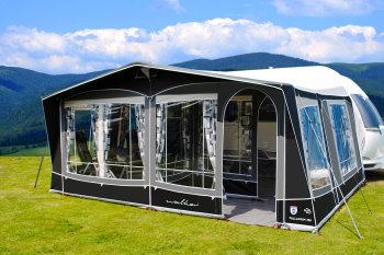 Size 1050 Walker Palladium 350 Caravan Awning With Jolax Carpet And Storm Straps