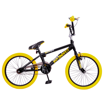 "Rooster No Mercy 20"" Wheel Black/Yellow Freestyler"