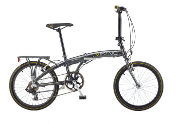 "Viking Park Lane, 7 Speed STI, 20"" Wheel Alloy Folder, Grey"