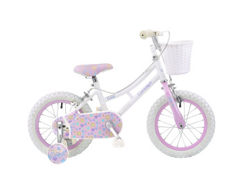 "CONCEPT MISS COOL GIRLS SINGLE SPEED, 14"" WHEEL, WHITE/PINK"