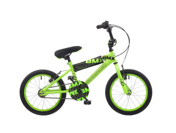"CONCEPT ANDROID BOYS SINGLE SPEED BMX, 16"" WHEEL, NEON GREEN"