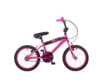"CONCEPT DIVA GIRLS SINGLE SPEED BMX, 16"" WHEEL, NEON PINK"