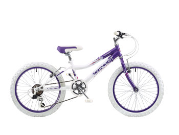 "CONCEPT CHILL OUT GIRLS 6 SPEED, 20"" WHEEL, PURPLE/WHITE"