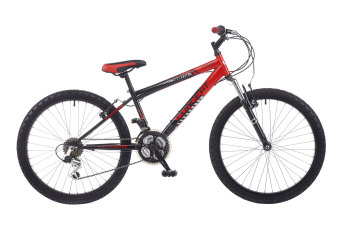 "CONCEPT RANGER BOYS FRONT SUSPENSION, 18 SPEED, 24"" WHEEL, BLACK/RED"