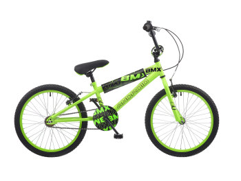 "CONCEPT ANDROID BOYS SINGLE SPEED BMX, 20"" WHEEL, NEON GREEN"