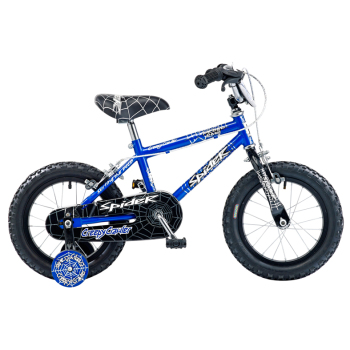 "CONCEPT SPIDER BOYS SINGLE SPEED, 14"" WHEEL, BLUE/BLACK"