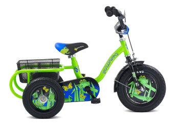 "Pedal Pals Bullfrog Boys Trike 12"" Green/Black"