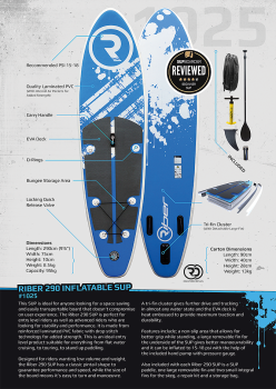Riber 290 - Inflatable SUP Paddleboard