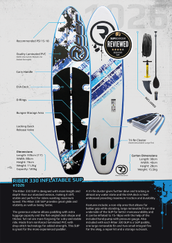 Riber 330 - Inflatable SUP Paddleboard