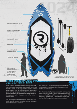 Riber 550 - Multi-Person Inflatable SUP