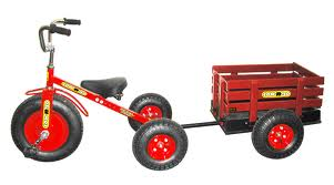 Tow N Go >> Tow N Go Trike With Trailer Red Single