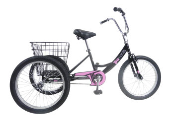 "Concept Tri-Mantis Girls Single Speed Trike, 20"" Wheel, Black"