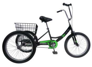 "Concept Tri-Mantis Boys Single Speed Trike, 20"" Wheel, Black"
