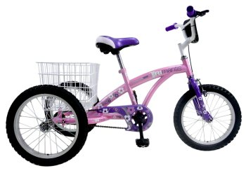 "Concept Tri-Mantis Girls Single Speed Trike, 16"" Wheel, Pink/Lilac"