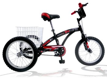 "Concept Tri-Mantis Boys Single Speed Trike, 16"" Wheel, Black"