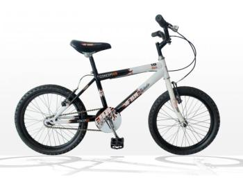"Concept Fireblade Boys Single Speed, 18"" Wheel, Black/White"