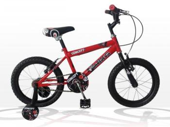 "Concept Daredevil Boys Single Speed, 16"" Wheel, Red/Black"