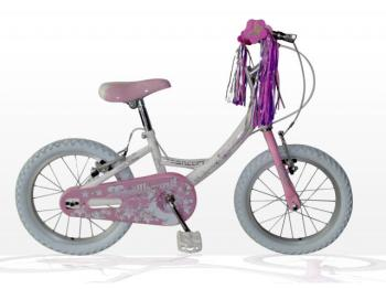 "Concept Spellbound Girls Single Speed, 16"" Wheel, White/Pink"