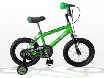 "Concept Little Monster Boys Single Speed, 14"" Wheel, Neon Green/Black"