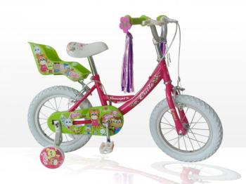 "Concept Little Cutie Girls Single Speed, 14"" Wheel, Pink"