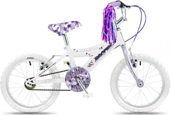 "Concept Secret Girls Single Speed, 16"" Wheel, White/Lilac"
