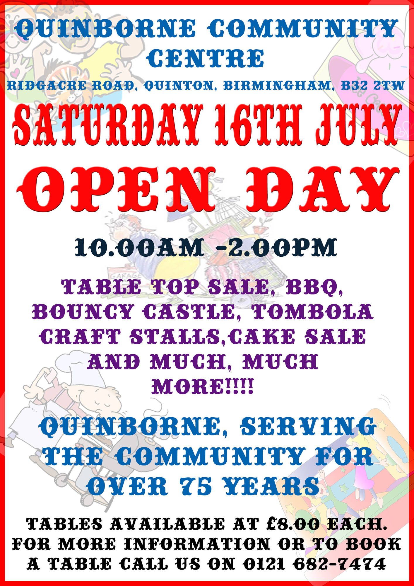 Open Day 13th July 2016