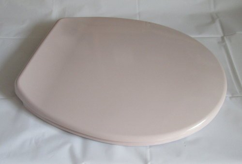 pale pink whisper colour toilet seat in duroplast with chrome finish hing