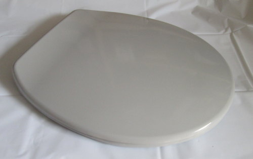 Whisper Grey Duroplast Plastic Toilet seat with Chrome  hinge