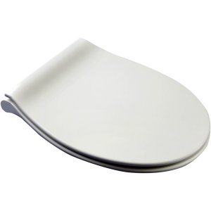 Euroshowers Slimline Universal Toilet Seat in white with slow close hinge