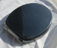 Black Moulded wood Toilet seat with Chrome finish hinge