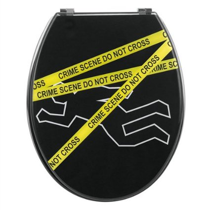 Crime Scene Toilet Seat by Wirquin with Chrome finish hinges
