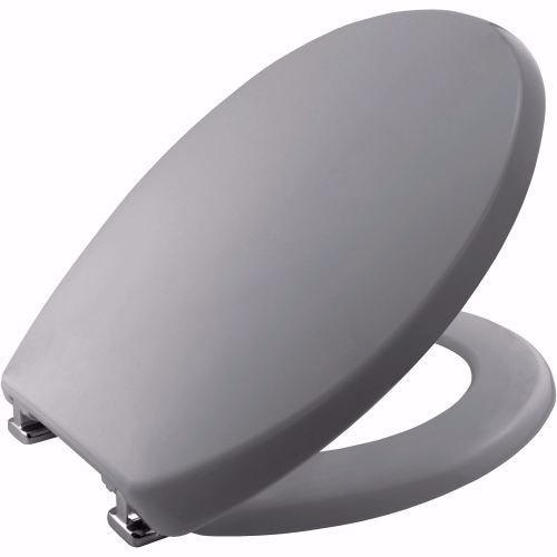 Whisper Grey Technoplast Plastic Toilet seat by Bemis