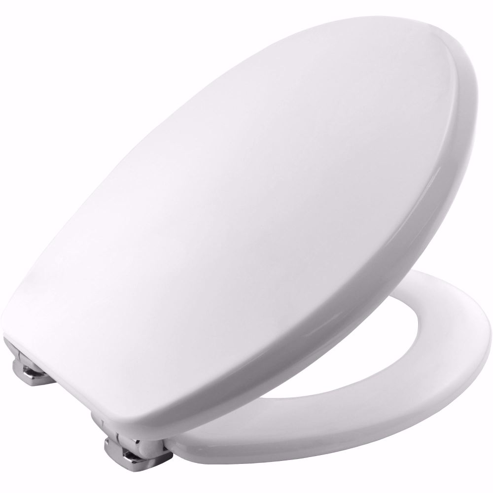 White Wood Toilet Seat By C Amp M Asti Soft Close Slow Close