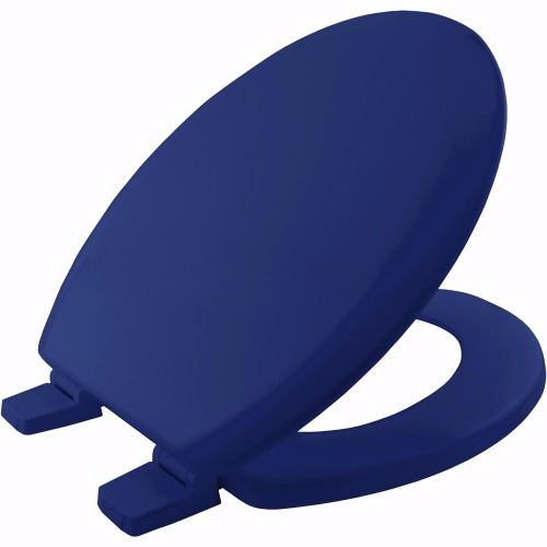 Bemis Solid Blue Coloured Moulded Wood Toilet Seat.