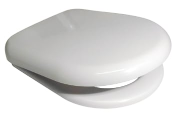 Euroshowers  PP D  Range Toilet Seat in white