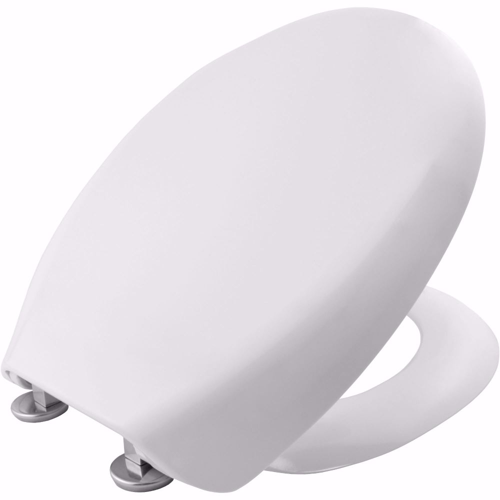 Carrra and Matta White wrap over Toilet seat with slow close hinge
