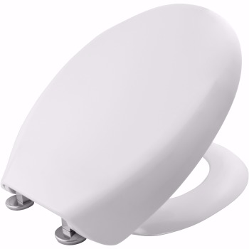 Bemis White wrap over Toilet seat with slow close hinge