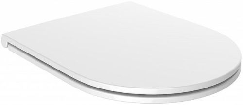Euroshowers Middle D Slim toilet seat in Duroplast White